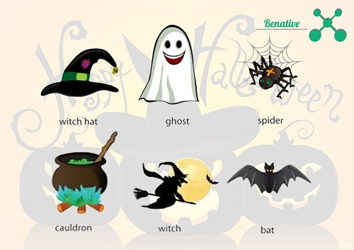 Hoc tu vung tieng Anh chu de Halloween