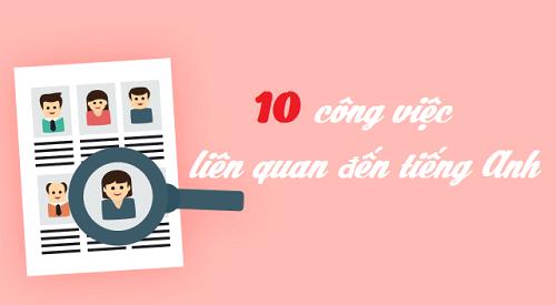 Định hướng 10 công việc liên quan đến tiếng Anh