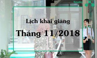 Lịch khai giảng tháng 11/2018 – Trung tâm tiếng Anh Benative