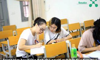 Lớp học tiếng Anh cho người mới bắt đầu tại Benative