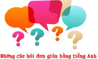 Những câu hỏi đơn giản bằng tiếng Anh cho người mới bắt đầu
