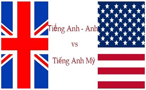 Sự khác biệt giữa tiếng Anh – Anh và Anh – Mỹ