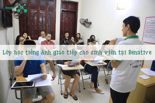 Lớp học tiếng Anh cho sinh viên tại Benative