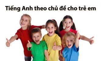 tiếng Anh theo chủ đề cho trẻ em