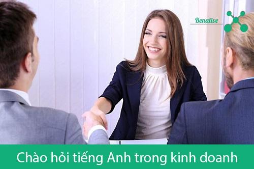 Cau chao bang tieng Anh trong kinh doanh