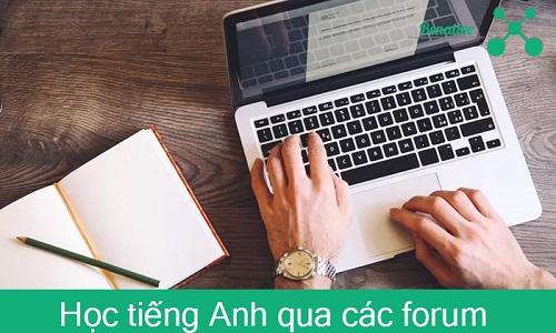 Hoc tieng Anh qua cac forum