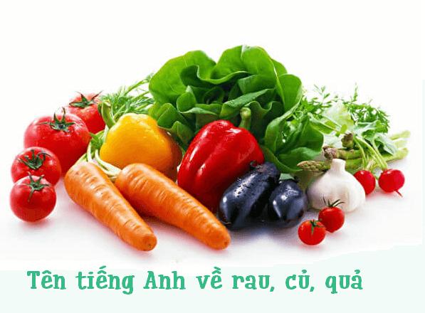 tên tiếng anh của các loại rau