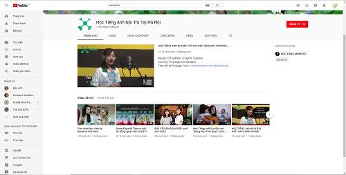 hoc tieng anh qua youtube