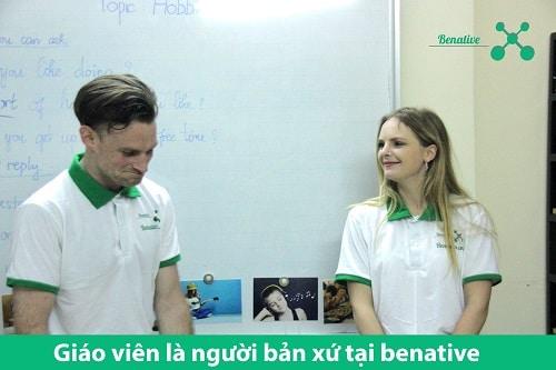 Lớp học tiếng Anh cùng người bản xứ tại Benative