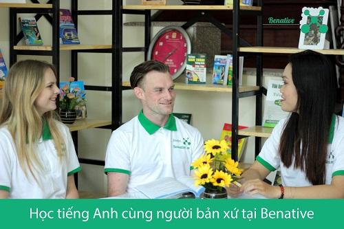 Học nói tiếng Anh chuẩn như người bản xứ cùng Benative