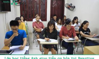 Lớp học tiếng Anh giao tiếp cơ bản tại Benative