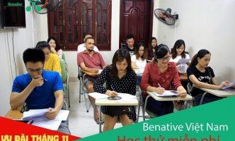 Học thử MIỄN PHÍ tại Benative ngay trong tháng 11