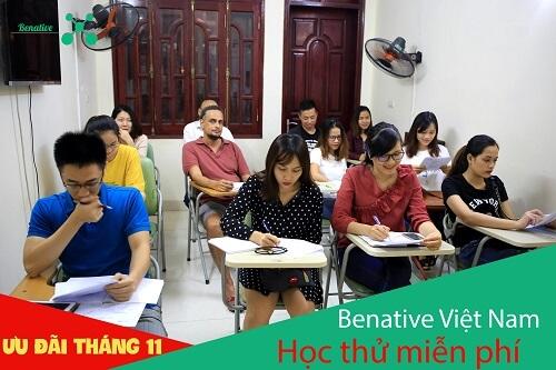 HOT! HOT! Học thử MIỄN PHÍ tại Benative ngay trong tháng 11