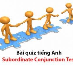Bài quiz tiếng Anh