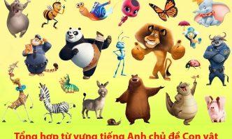 Từ vựng tiếng Anh chủ đề con vật