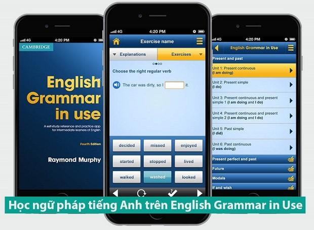 Học ngữ pháp tiếng Anh trên English Grammar in Use