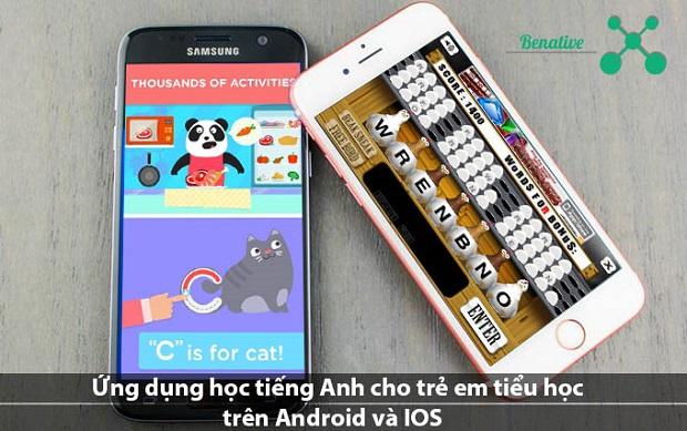 Ứng dụng học tiếng Anh cho trẻ em tiểu học trên Android và IOS