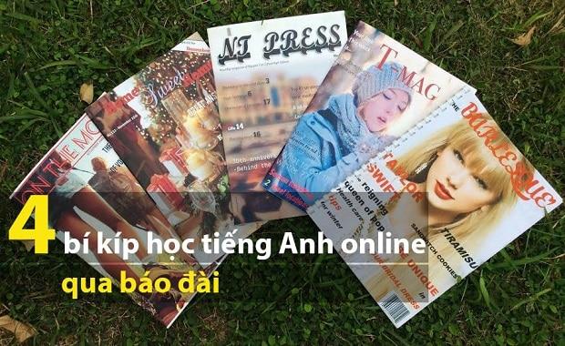 4 bí kíp học tiếng Anh online qua báo đài cực chất