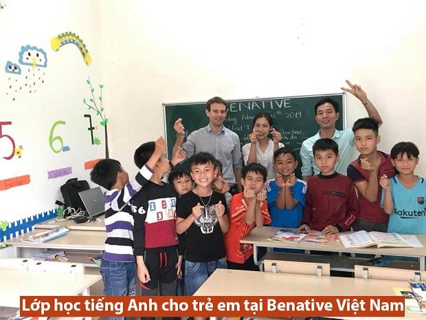 Lớp học tiếng Anh cho trẻ em tại Benative Việt Nam