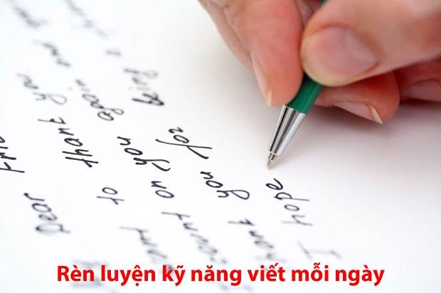 Rèn luyện kỹ năng viết mỗi ngày