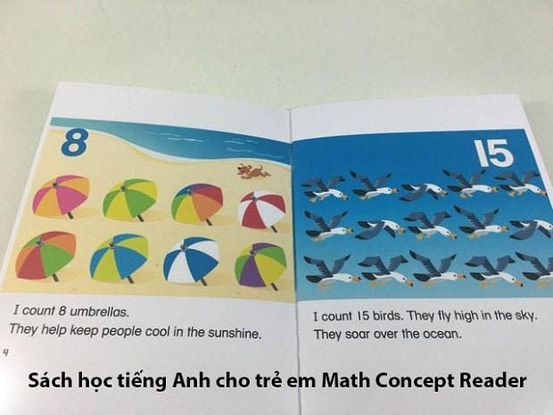 Sách học tiếng Anh cho trẻ em Math Concept Reader
