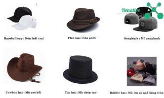 từ vựng tiếng anh về các loại mũ