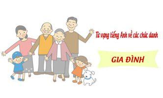 Từ vựng tiếng Anh về các chức danh trong gia đình