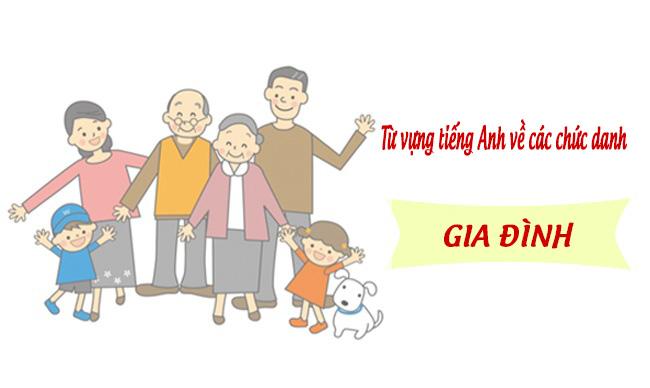 Từ vựng tiếng Anh về chức danh trong gia đình