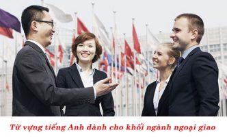 từ vựng tiếng anh ngành ngoại giao