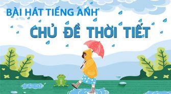 Bài hát tiếng Anh về thời tiết cho trẻ em