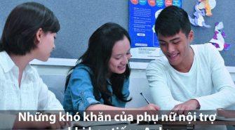 Những khó khăn của phụ nữ nội trợ khi học tiếng Anh