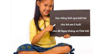 Học tiếng Anh qua bài hát cho trẻ em