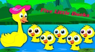 học tiếng Anh qua bài hát Five Little Ducks