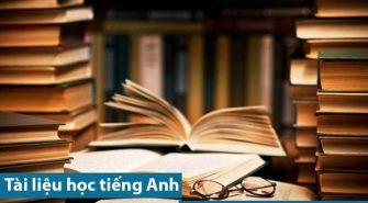 tài liệu học tiếng Anh cho người mới bắt đầu